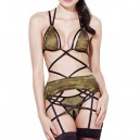 European and American Halloween Uniforms Sexy Full Military Camouflage Four Suit Performance Clothes Halloween Costume