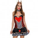 Supply Halloween Role - Playing Cartoon Sexy Heart Print Queen Queen Stage Halloween Costume