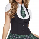 Halloween Role - Playing Stage Loaded Private School Girls Uniform Shirt Sexy Mini Skirt Halloween Costume