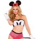Sexy Lovely Mouse. Make - Up Dresses Tight - Fitting Role Playing Halloween Costume
