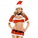 Europe and The United States Christmas Red Sexy Multi - Piece Sets of Bikinis Christmas Equipment
