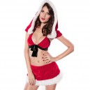 Supply Europe and The United States Holiday Winter Sexy Hooded Split Skirt Bikini Europe and The United States Christmas Equipment