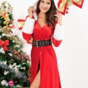 Supply Europe and The United States Winter Christmas Long - Sleeved Style Christmas Dress