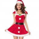 Supply European and American Red Short - Sleeved Style Sexy Naughty Christmas Christmas Equipment