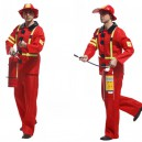 Supply Halloween Costume Men Adult Stage Firefighter Dress Up Fire Wear
