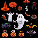 Supply Christmas Decoration Supplies Parachute Skulls Ghosts Witch Spider Ornaments Ornaments