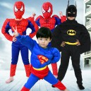 Halloween Performance Thickening Muscular Man Spiderman Batman Costume Suit