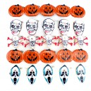 Supply Halloween Ghost Festival Supplies Luminous Brooch Flash Brooch Skeleton Ghost Head Pumpkin Brooch