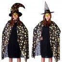 Supply Clothing Halloween Costume Accessories Adult Gold Pumpkin Cloak