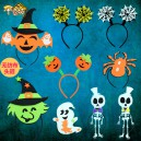 Supply Halloween Creative Adults Dressing Supplies Pumpkin Cap Hoop Spider Web Style Witch Cap Style and Other Headdress