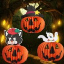 Supply Halloween Pumpkin Lantern Halloween Pumpkin Decorative Ceiling Folding Paper Lantern Ghost Light Black Cat
