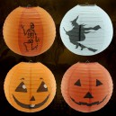 Supply Halloween Lantern Scene Decoration Round Telescopic Lanterns Can Be Linked To Pumpkin Paper Lantern Pumpkin