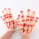Supply Halloween Makeup Performance Gloves Accessories Male Style Gloves Gloves Red