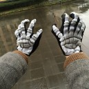 Supply Halloween Latex Gloves Skull Bones Terror Ghost Claw Gloves Death Gloves