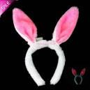 Supply Light Rabbit Ears Flashing Rabbit Hair Band Hoop Headband Hair Ornaments Plush Rabbit Ears Halloween Batch