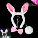 Supply Flashing Light with A Headband Cuffed Rabbit Ear Three Sets of Ears