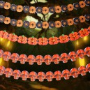 Supply Halloween Flowers and Flowers Scene Layout Decoration Supplies Carnival Ghost Festival Color Double - Sided Pumpkin Flower