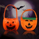 Supply Halloween Ornaments Pumpkin Bag Handmade Nonwovens Pumpkin Bag Child Gift Candy Bag Basket