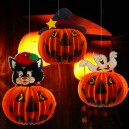 Supply Halloween Pumpkin Lantern Halloween Hotel Decorative Ceiling Folding Paper Lanterns