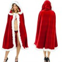 Supply Christmas Costume Red Christmas Cloak Adult Male and Female General Sexy Europe and The United States Fashion Cloak Cloak