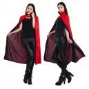 Halloween Costume Double Color Cloak Red Black Cloak Adult Cloak Collar Cloak