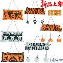 Supply Halloween Pendant Non-woven Tag Hanging Halloween Pumpkin Listed Skeleton Pendant Halloween Happy Ornaments
