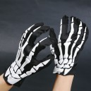 Supply Halloween Ghost Festival Dress Up with Skull Gloves Cloth Gloves Foam Gloves Gloves Gloves Adult Hands