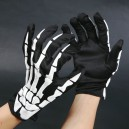 Halloween Ghost Festival Dress Up with Skull Gloves Cloth Gloves Foam Gloves Gloves Gloves Adult Hands