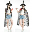 Halloween Makeup Dress Adult Children Witch Pumpkin Cloak Cloak M Prize Gold Cloak
