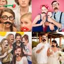 Creative Wedding Photography Paper Beard Camera Funny Bearded Glasses Lips 1 Six