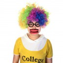 Supply Halloween Fool Day Toys Whole Funny Big Mouth Red Lips Sausage Mouth Wig Glasses Set
