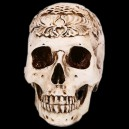 Supply Halloween Haunted House Scene Decoration Skull Ornaments Resin Carved Head Skull Tattoo Toys Simulation Skull