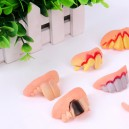 Supply Halloween Tattoo False Teeth Rotten Teeth Halloween Dress Up Zombie Dress Up Witch Dentures