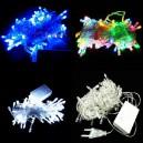 Supply Christmas Lights Led Lights String Flashing Lights Christmas Lights String Decorative Lights Stars Stars String 10 Meters White Blue
