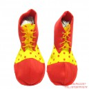 Supply Halloween Costume Clown Dress Red Clown Shoes Adult Clown Shoes Fabric)