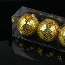 Glass Sphere Mirror Ballroom Wedding Ball Stage Light Reflective Ball Reflected Glass Ball Red Christmas Ball