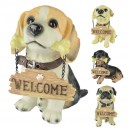 Resin Dog Ornaments Welcome Welcome Welcome Dog Office Home Interior Decoration Supplies Animal