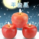 Supply Christmas Eve Arrival Apple Peace Fruit Shape Candle Simulation Fruit Candle Light Decoration