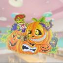 Supply Halloween Dress Up Ktv Stereo Sticker Scene Dress Up Evil Pumpkin Skeleton Door Sticker
