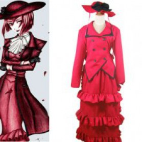 Black Butler Madam Red Angelina Dalles Halloween Cosplay Costume