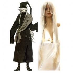 Black Butler Undertaker 100cm Halloween Cosplay Wig