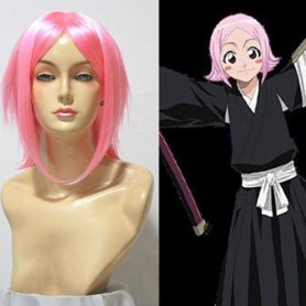 Bleach 11th Division Kusajika Yachiru Pink Halloween Cosplay Wig
