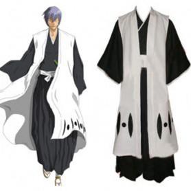 Bleach 3rd Division Captain Ichimaru Gin Halloween Cosplay Costume
