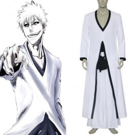 Bleach Ichigo Kurosaki Hollow Form Men's Halloween Cosplay Costume