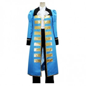 Hetalia Axis Powers Blue France Halloween Cosplay Costume