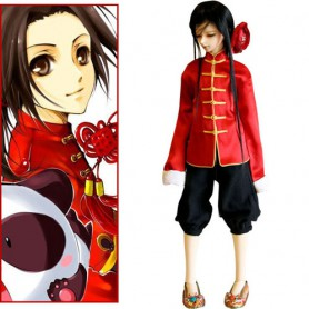 Hetalia Axis Powers China Wang Yao Halloween Cosplay Costume