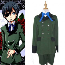 Popular Black Butler Kuroshitsuji Ciel Phantomhive Halloween Cosplay Costume
