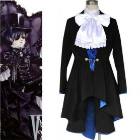 Top Black butler Kuroshitsuji Ciel Phantomhive Halloween Cosplay Costume