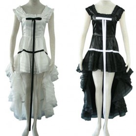 Chobits Chi Black Dress and white Dress Halloween Cosplay Costume