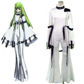 Code Geass C.C Halloween Cosplay Costume